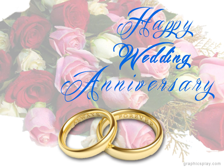 Happy Wedding Anniversary Greeting GraphicsPlay