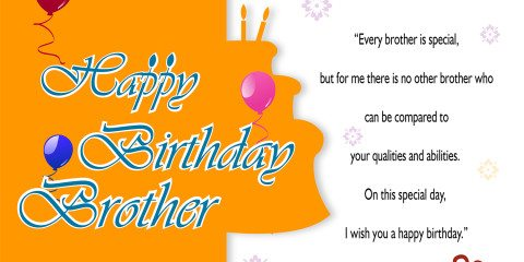 Happy Birthday Brother Greeting with Quotes 6