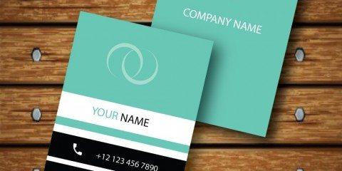 Vertical Business Card Design Vector Template - ID 1736 4
