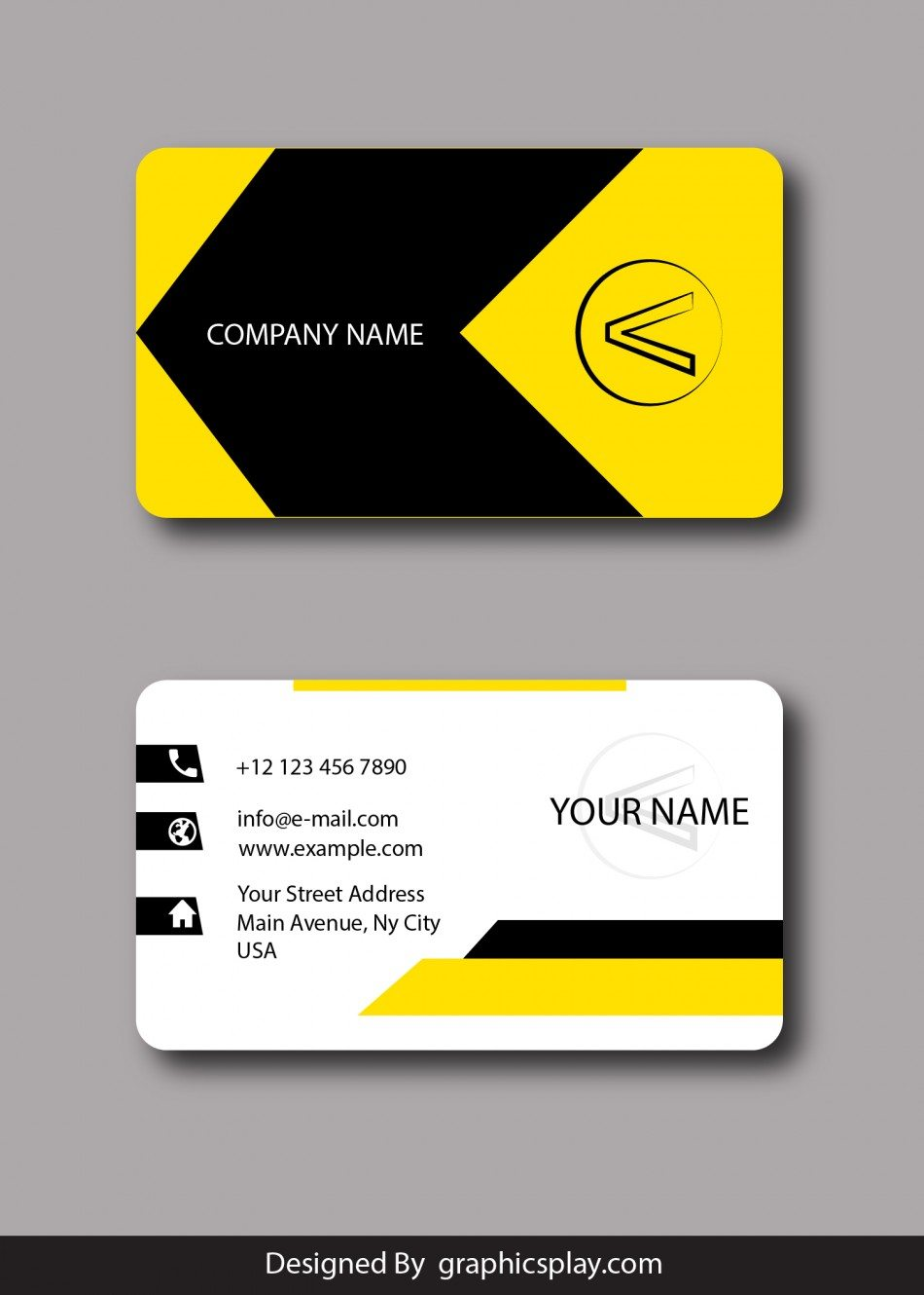 Business card design vector template id 1796 graphicsplay for New business cards