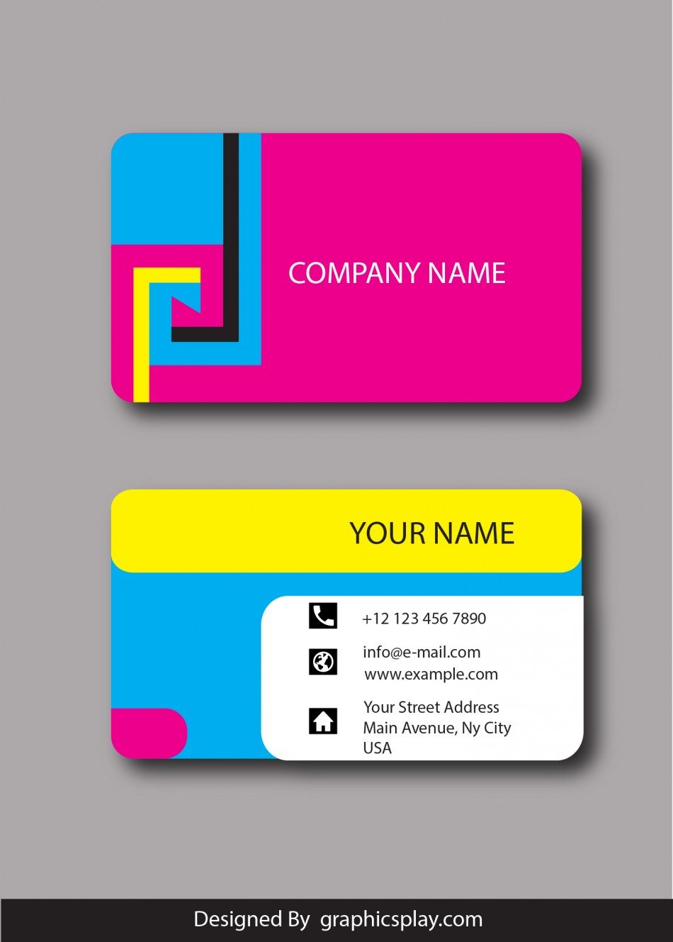 Business Card Design Vector Template Id 1800 Graphicsplay