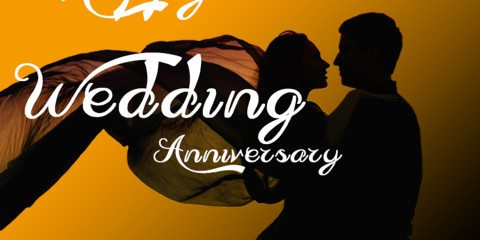 Happy Wedding Anniversary Greeting with Couple 2