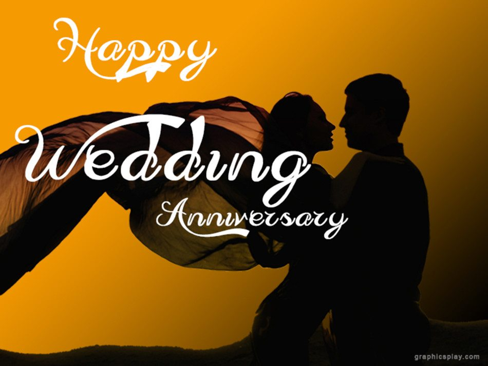 Happy wedding anniversary greeting with couple graphicsplay happy wedding anniversary greeting with couple m4hsunfo