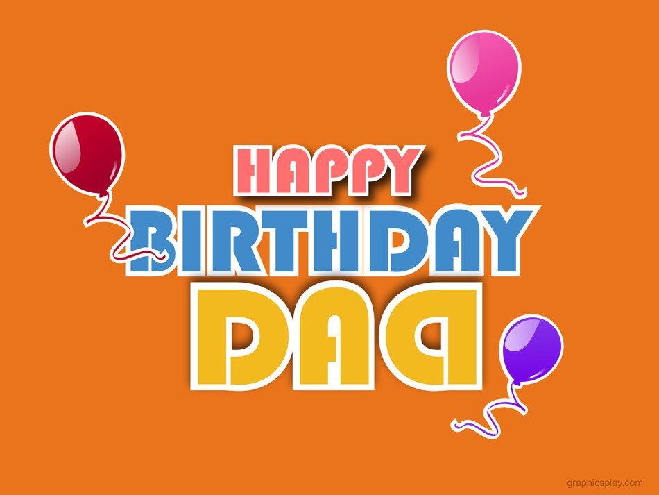 Happy Birthday Dad Greeting 1
