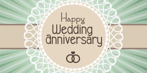 Happy Wedding Anniversary Simple Greeting 5