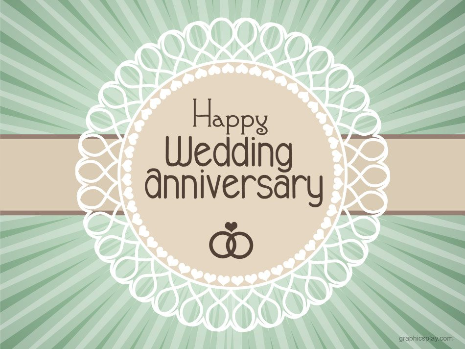 Happy Wedding Anniversary Simple Greeting Graphicsplay