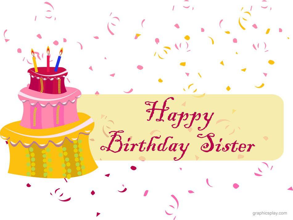 Happy birthday sister greeting graphicsplay happy birthday sister greeting m4hsunfo