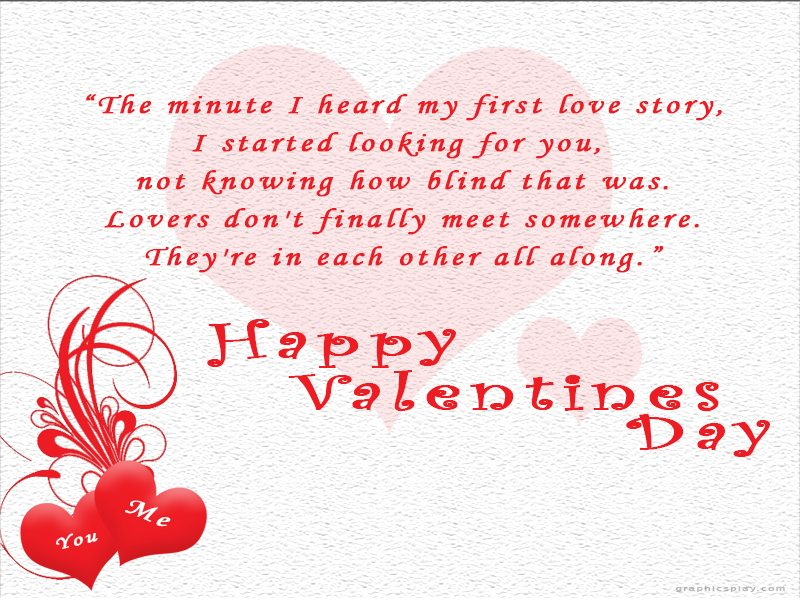 Happy valentine's Day With Quotes 1