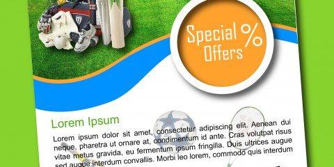 Sports Shop Flyer Design Template ID - 3183 2