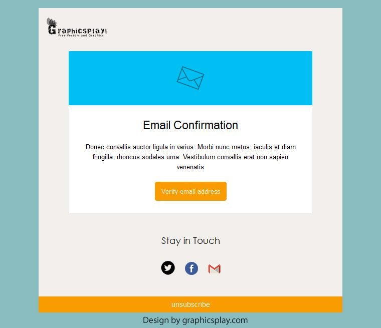 Design Html Email Template | Html Email Newsletter Template Id 3043 Graphicsplay